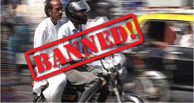 Pillion Riding Banned Karachi
