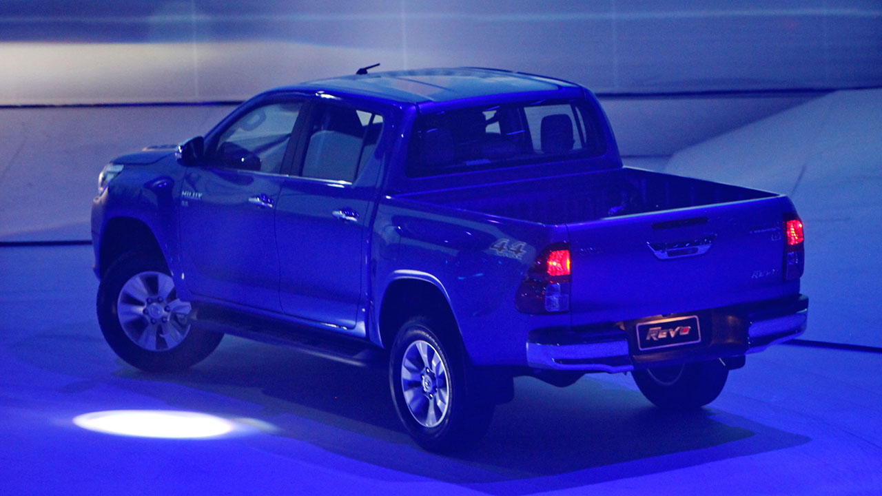 2016 toyota hilux revo officially launched photos. Black Bedroom Furniture Sets. Home Design Ideas