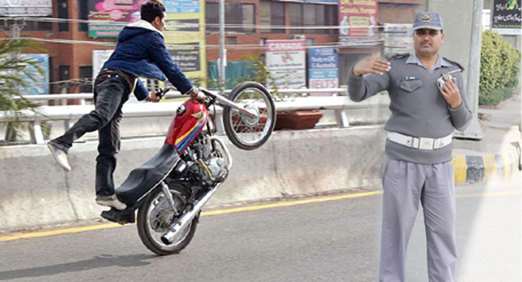 Lahore Traffic Police Wheeling