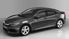 2016 Honda Civic Charcoal Gray 2