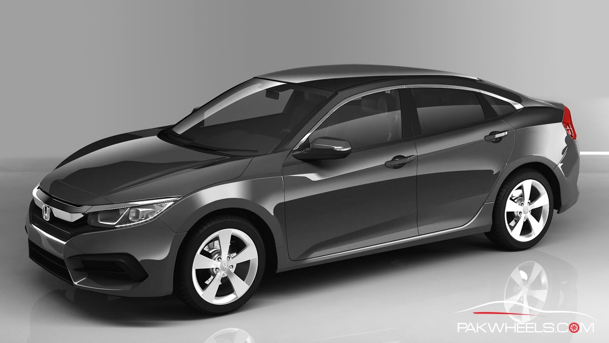 2016 Honda Civic Charcoal Gray 2