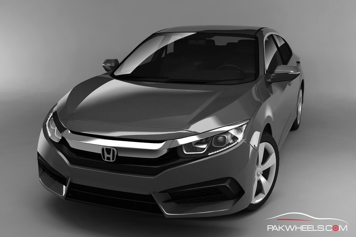 2016 Honda Civic Charcoal Gray 4