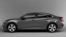 2016 Honda Civic Charcoal Gray 5