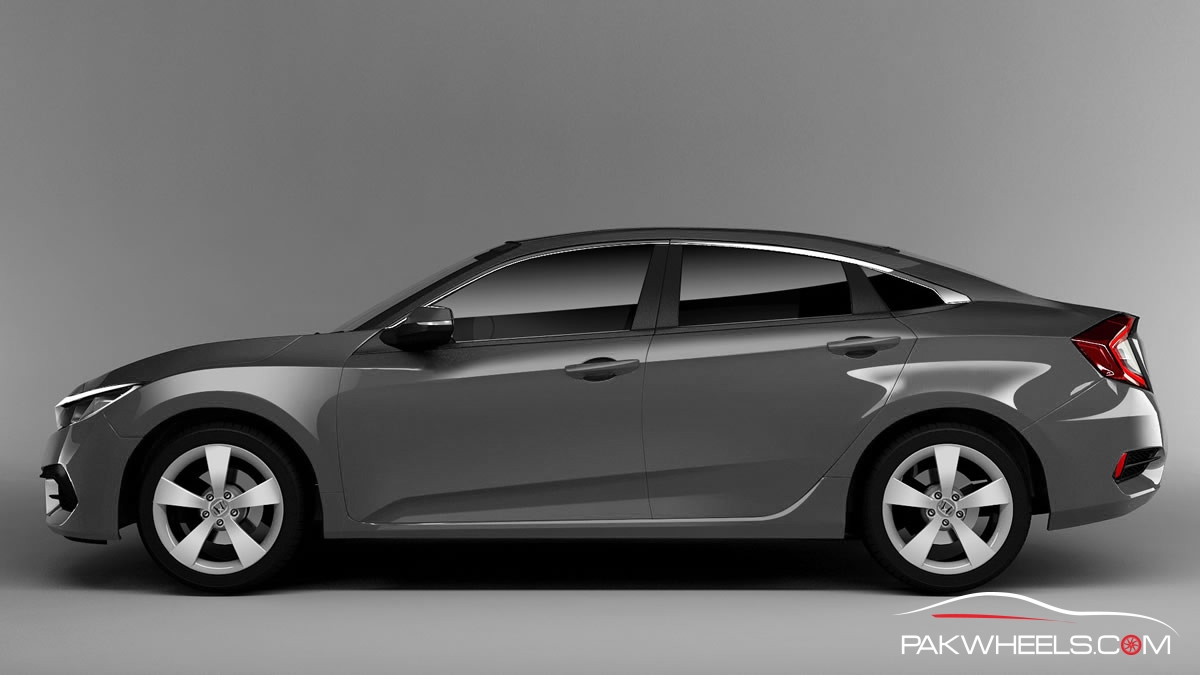 2016 Honda Civic Charcoal Gray 5