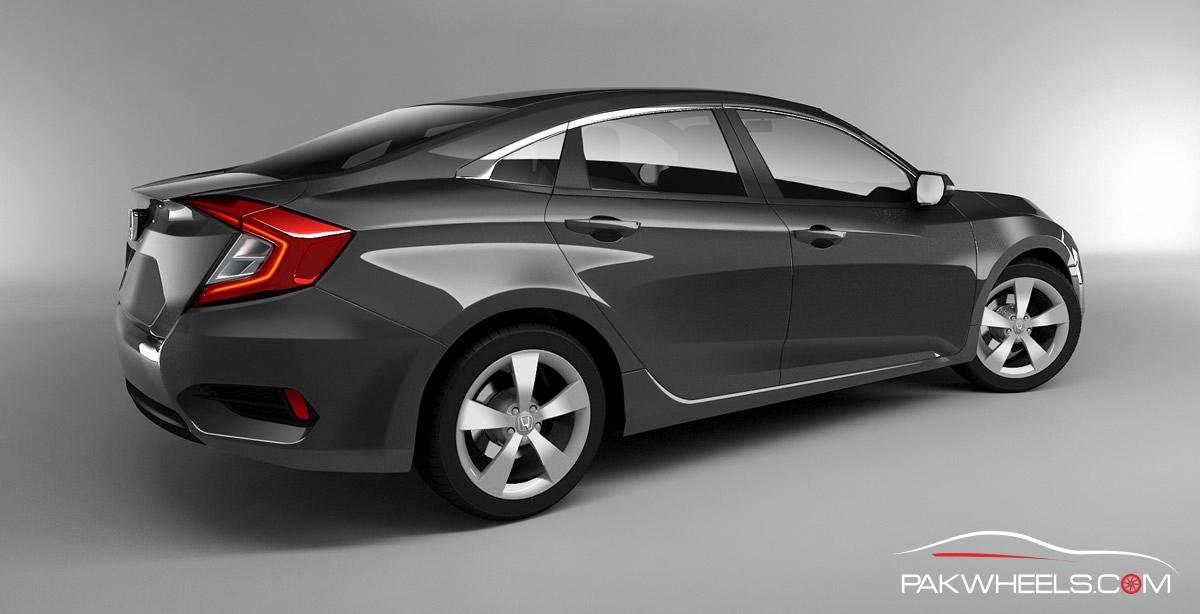 2016 Honda Civic Charcoal Gray 6