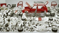 dismantled car
