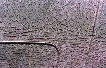 crack on tire