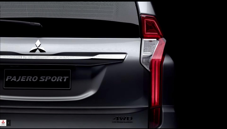 2016-Mitsubishi-Pajero-Sport-rear-teased