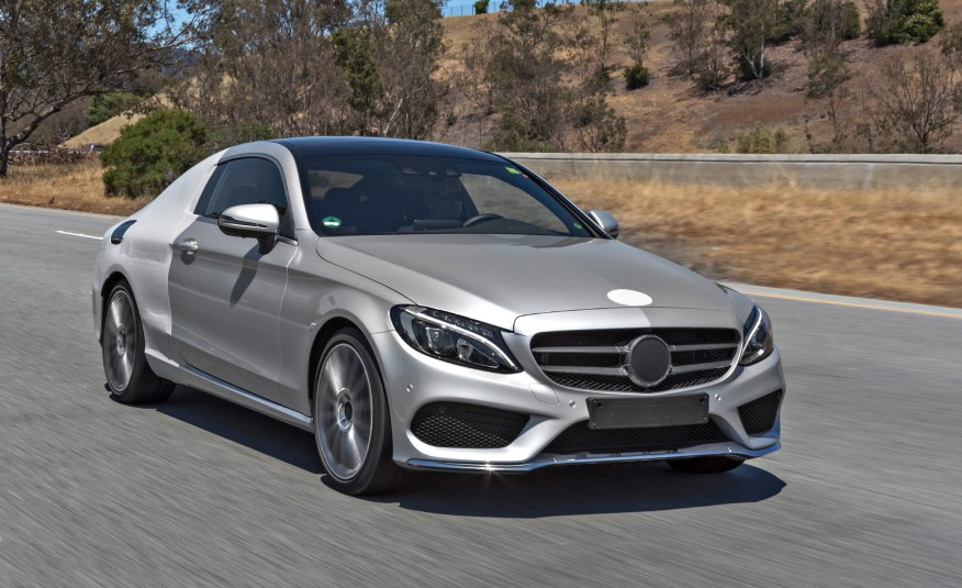 2017 mercedes c class coupe spy shots reveal everything. Black Bedroom Furniture Sets. Home Design Ideas