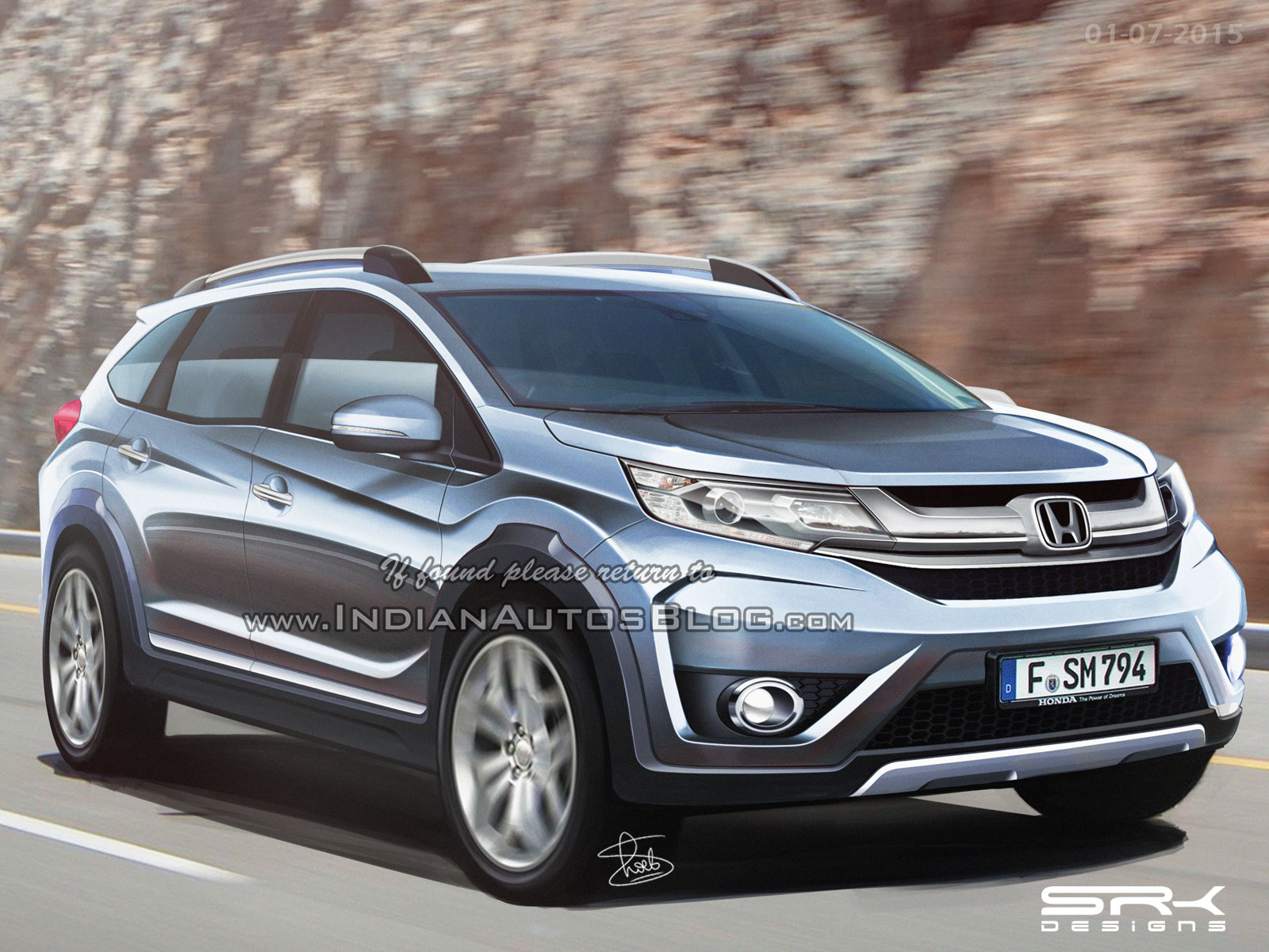 The All New Honda Br V Renders And Speculated Price