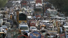 Vehicles-in-a-traffic-jam