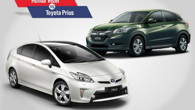 Toyota Prius V Honda Vezel A Comparison Between Two Por Hybrid Options In Stan