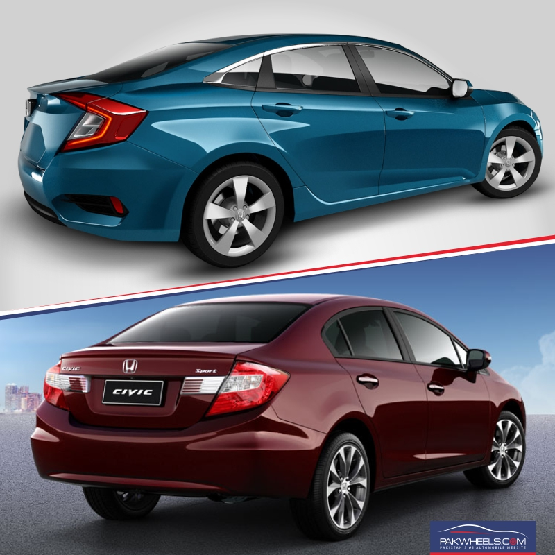 Honda Civic 2016 vs Honda Civic 2012