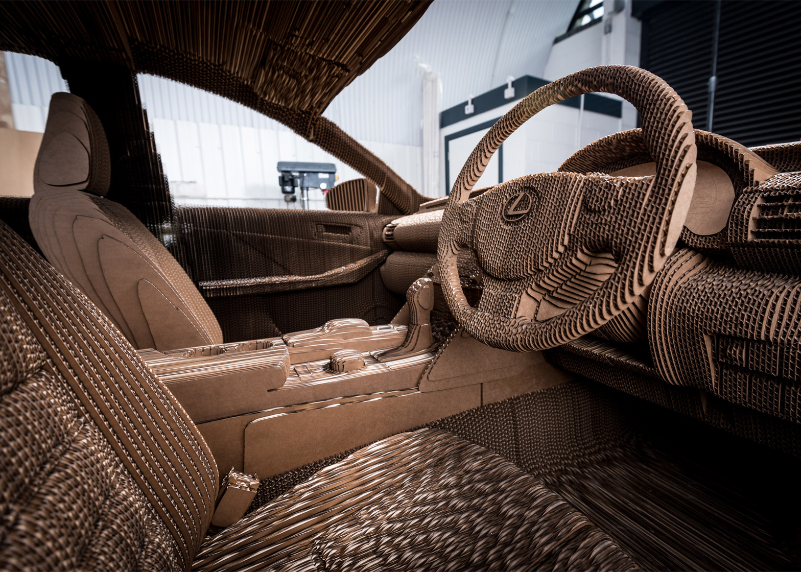Lexus Reveals Fully Drivable Origami Inspired Cardboard