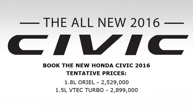 Honda Civic Pricing