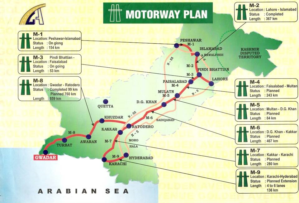 Pakistan Motorway Map