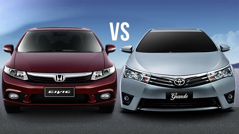 Corolla Vs Civic >> Comparison Honda Civic Oriel Prosmatec Vs Toyota Corolla