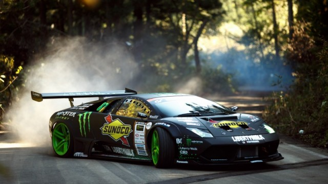 Watch A Lamborghini Drift Like A Beast Around The Corners