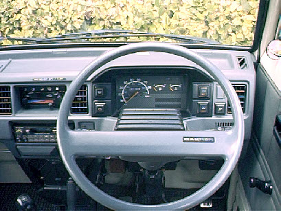 Interior Suzuki Super Carry van from late 1980's