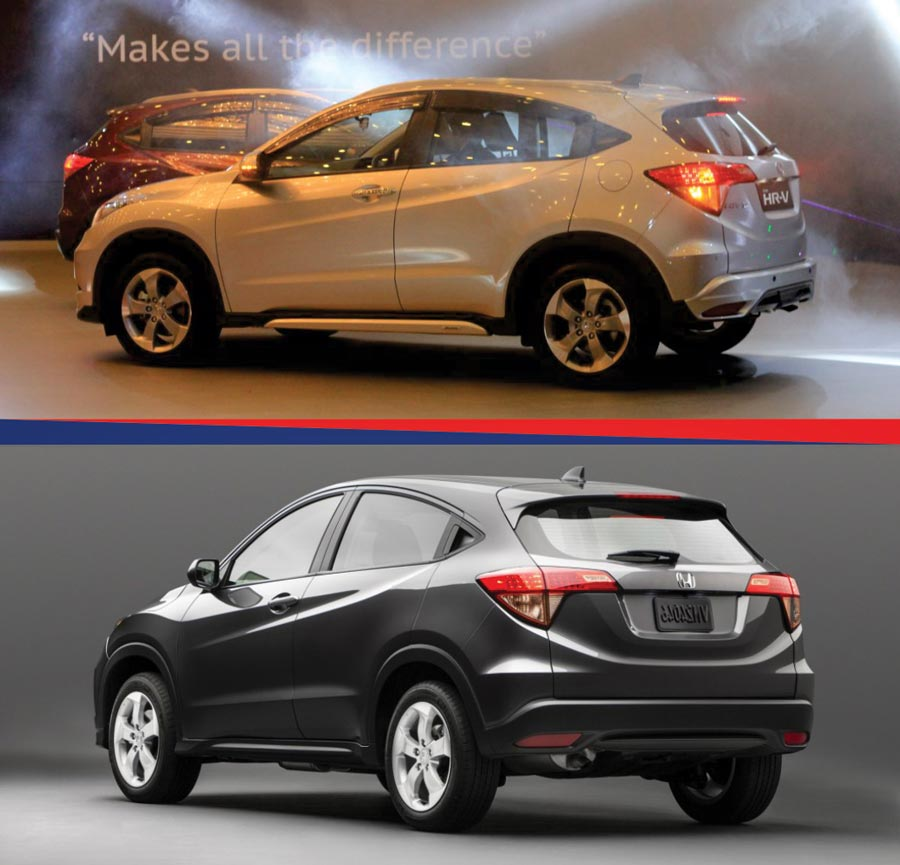 honda hr v vs honda vezel hybrid a brief comparison. Black Bedroom Furniture Sets. Home Design Ideas