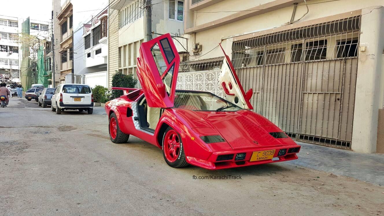 Karachi S Very Own Custom Made Lamborghini Countach Replica