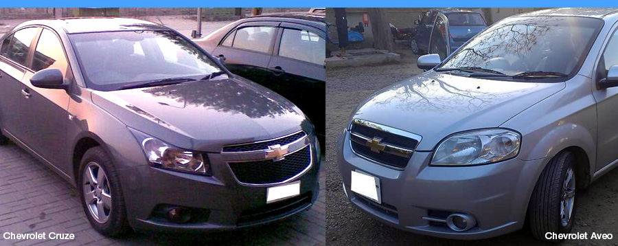 Chevrolet Cars's example Cruze Aveo