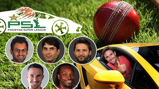psl 2016 cricketers cars