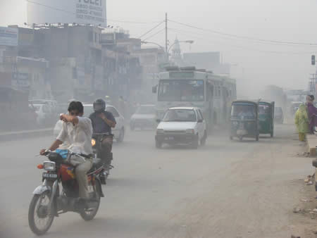 Road Pollution in Pakistan