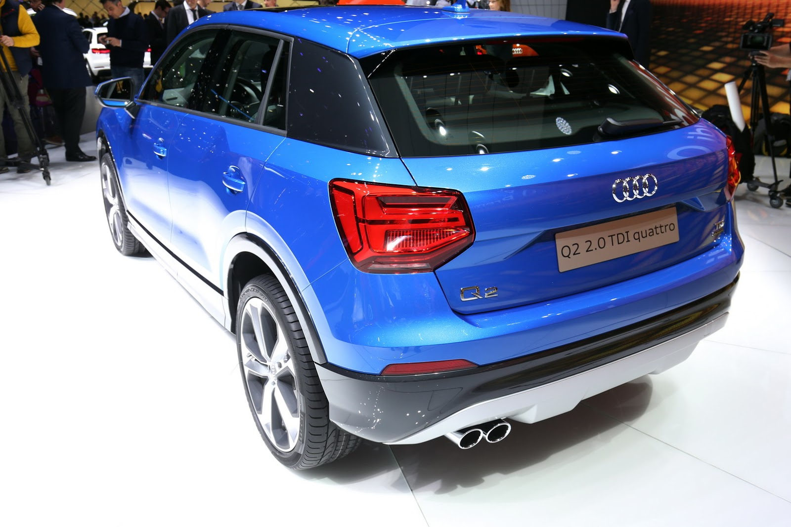 the new audi q2 crossover unveiled at the 2016 geneva