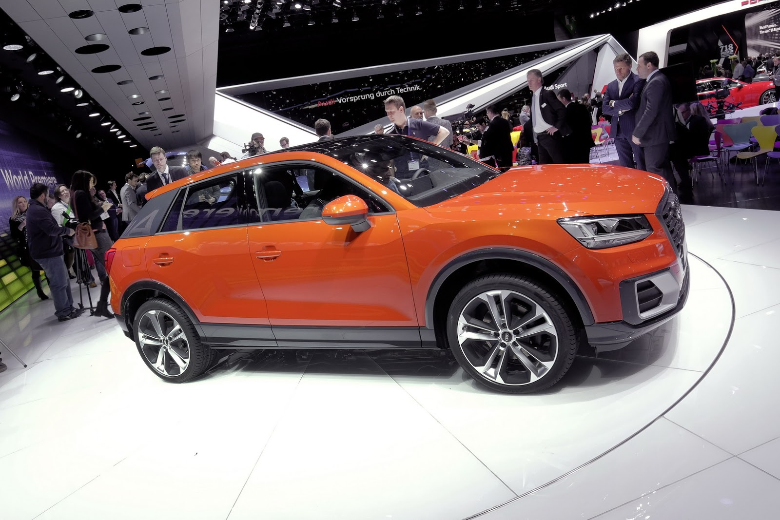the new audi q2 crossover unveiled at the 2016 geneva. Black Bedroom Furniture Sets. Home Design Ideas