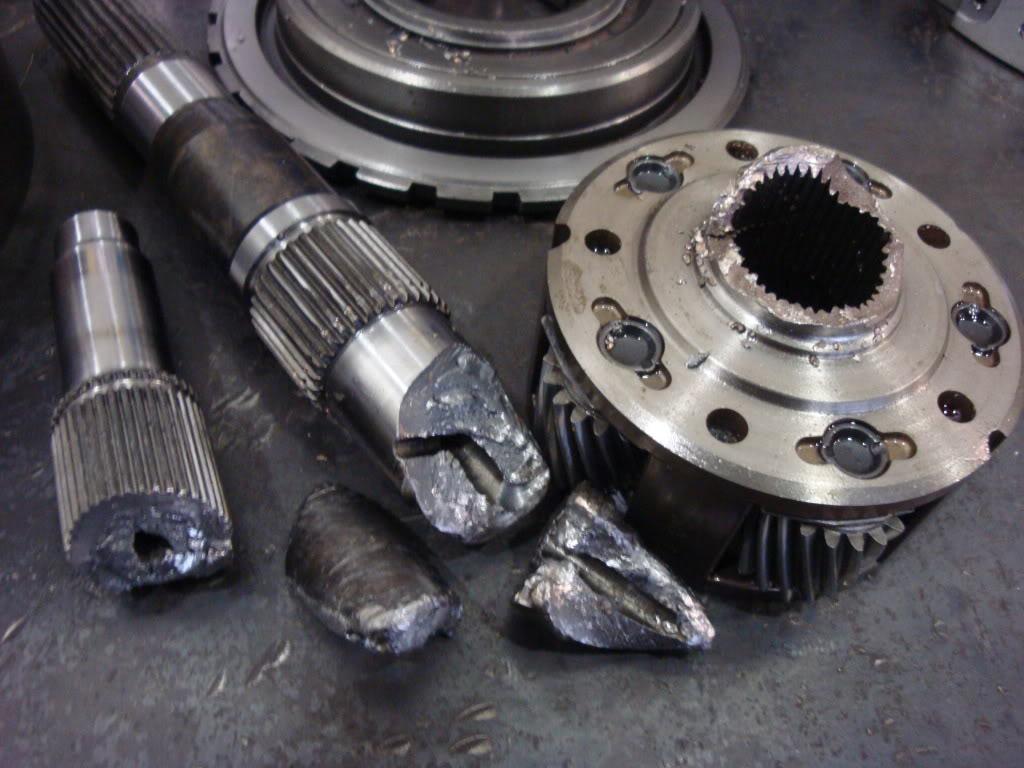 broken gearbox