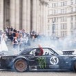 en Block And Matt LeBlanc Ride The Hoonicorn Mustang During The Filming Of Top Gear