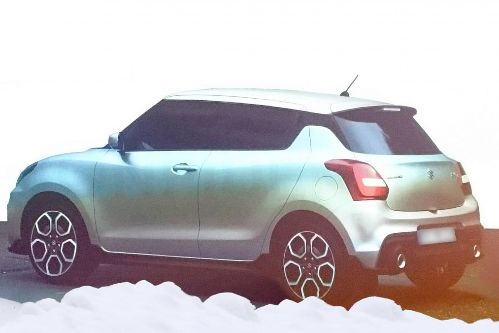 Suzuki Swift leaked rear exterior render