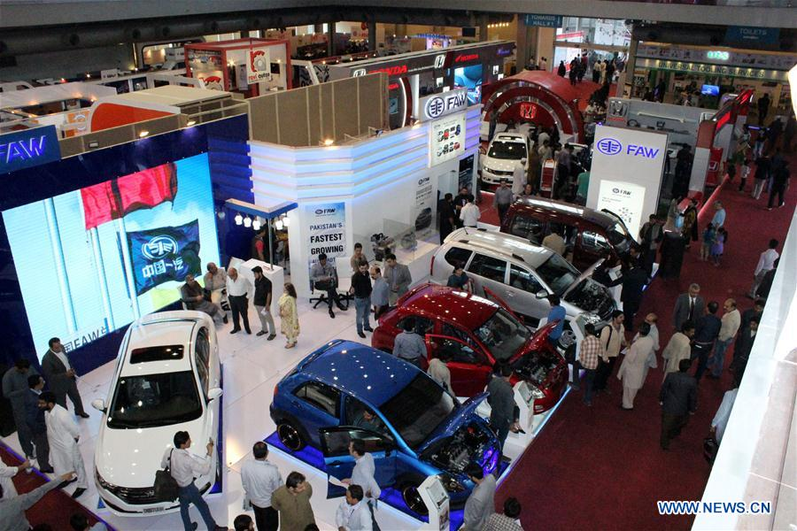 FAW booth at Lahore Auto Show