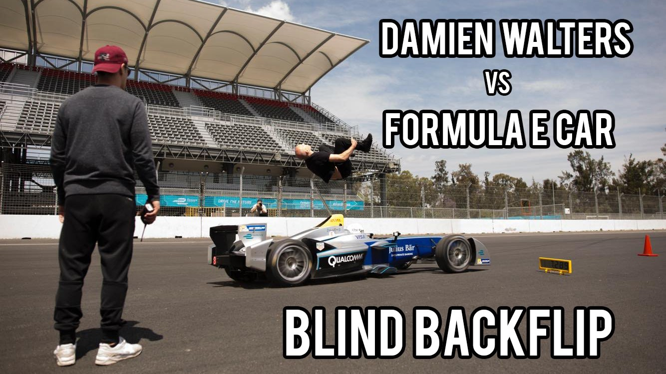 Damien Walters Formula E Back Flip