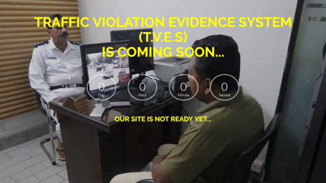 TVES website displayed timer clearly shows that the expected release of the website is delayed.