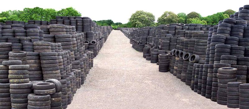 discarded tyres