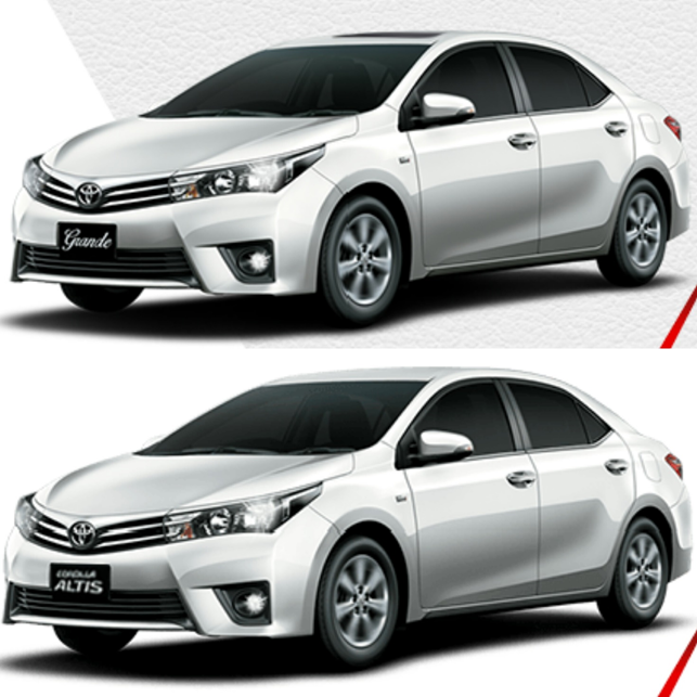 Toyota Corolla grande and altis