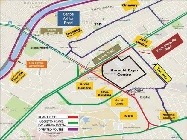 karachi map ideas 2016