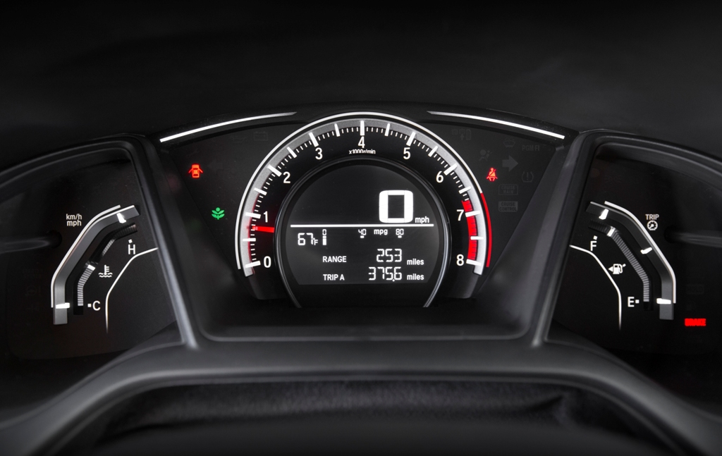 2016-Honda-Civic-LX-Coupe-instrument-cluster