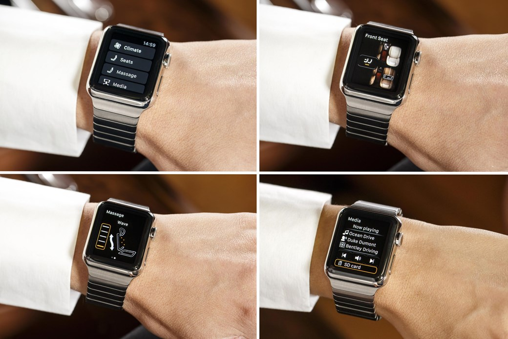 Bentley Bentayga Apple Watch Screenshots