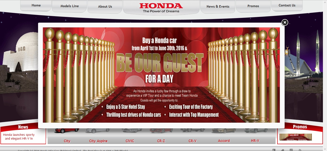 honda atlas pakistan screenshot
