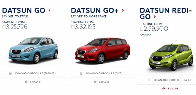 Datsun redi-GO Price Leaked Ahead Of Its Launch In India - PakWheels ...