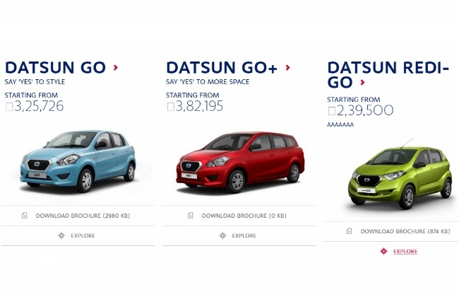 Datsun redi-GO Price Leaked Ahead Of Its Launch In India ...