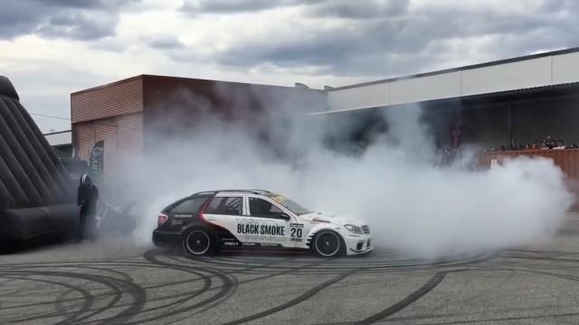Diesel Powerd Drifting Mercedes-Benz C-Class Estate (13)