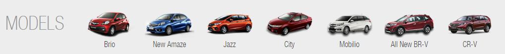 Honda Line-up India