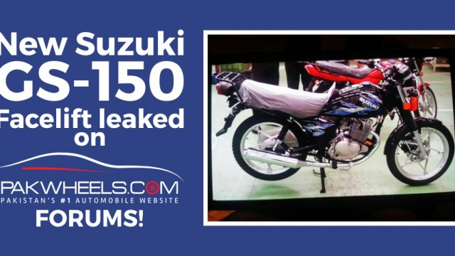 New Suzuki GS-150 leaked on PakWheels Forum