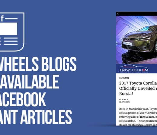 PakWheels Now available as Instant Articles on Facebook