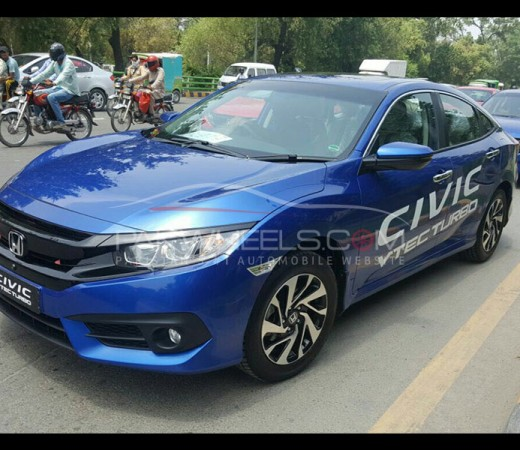 Dozens of All New Honda Civics on a roll on streets of Lahore