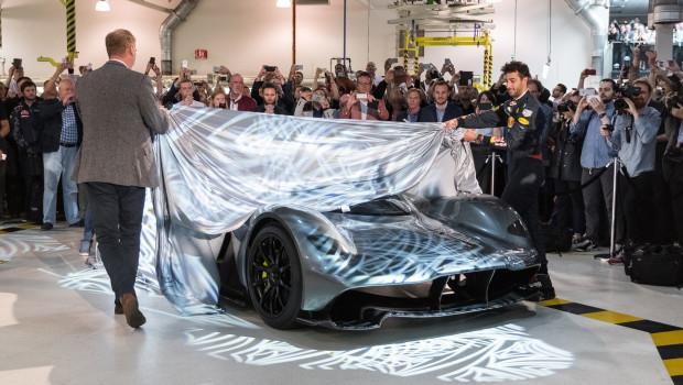 Daniel Ricciardo Unveiling the AM-RB-001